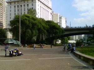 Vale do Anhangabaú, centro de São Paulo.