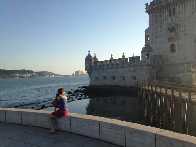 Torre de Belém. A foto foi feita por Renata Miranda